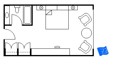 gallery for typical hotel room dimensions