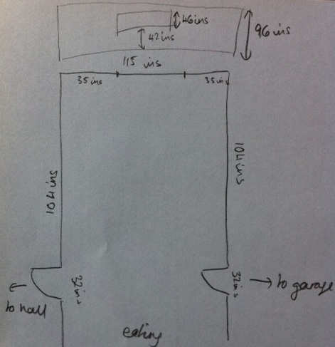 step 2 create a floor and wall plan - Kitchen Plan Design