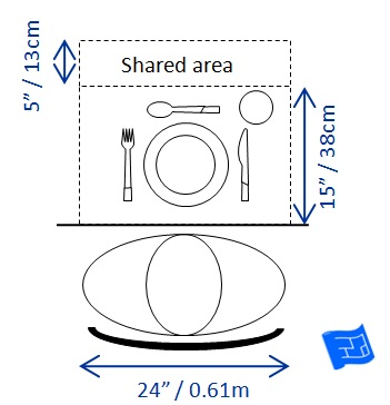 Dining table size for Table th spacing
