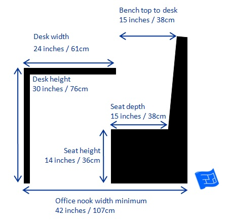 small home office design - Office booth dimensions