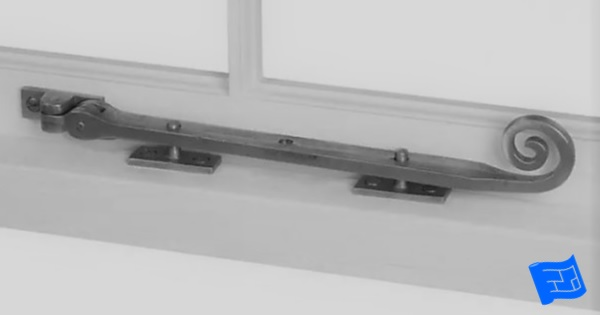 Parts of a window - window stay in the closed position