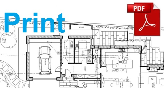 Print a section of a pdf floor plan Building plan printing