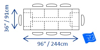 Dining Table Size For 8 ...