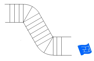 s-bend winder staircase