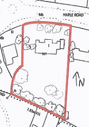 Site Plan with Trees added