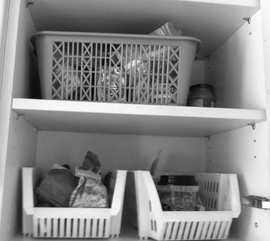 baskets in kitchen wall cabinet