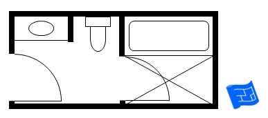 Anese Style Small Bathroom Floor Plan Including A Bath And Shower