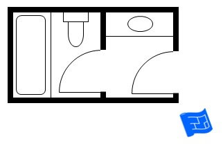 Small Bathroom Floor Plan With Bath And Toilet In A Separate Room