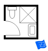 Small bathroom floor plans for 6x6 room design