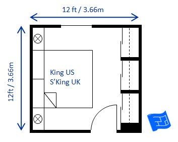 Small Bedroom Design King 12 X 12ft