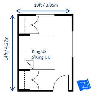 small bedroom design king 10 x 14ft