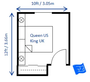 Bedroom size for Bedroom designs 12 x 12