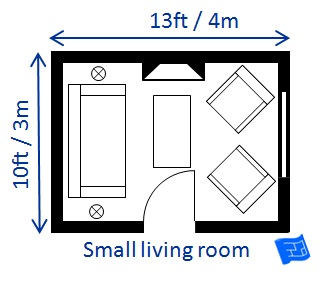 Living room size for 10 x 12 living room layout