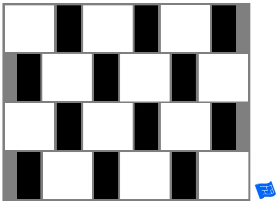 Square and rectangle tile pattern