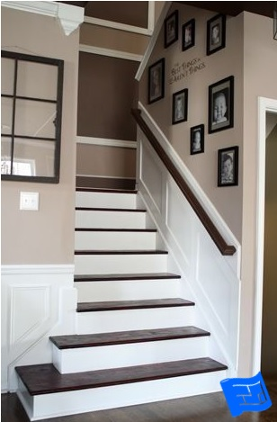 square stair wrap example