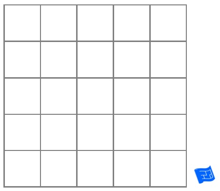 Square grid tile pattern - plain
