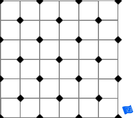 Corner squares tile pattern - alternate