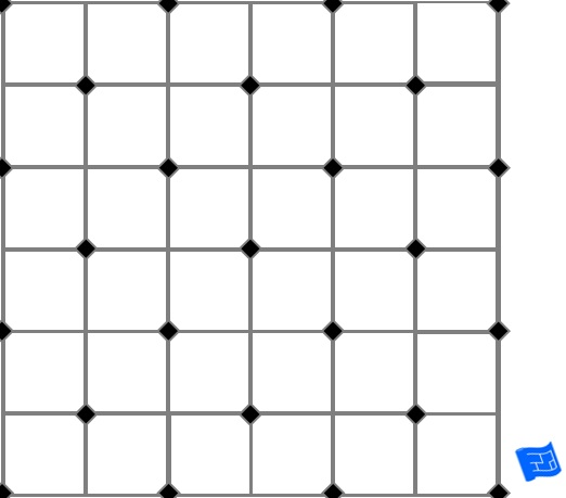 Corner squares tile pattern - alternate - small