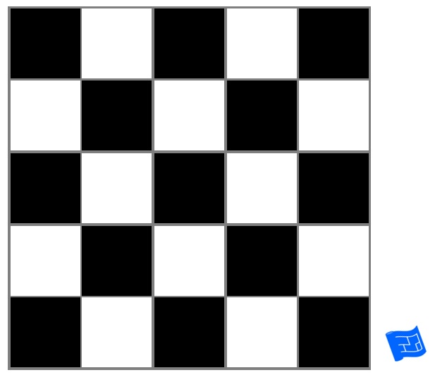 square grid tile pattern - checkerboard