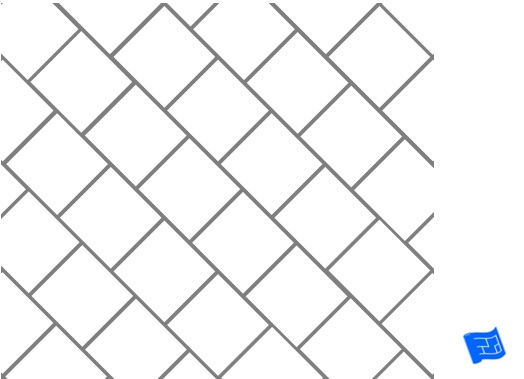 Diagonal square tile pattern - brickwork