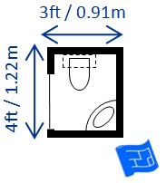 Half bathroom dimensions