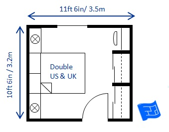 Bedroom size for Standard master bedroom dimensions