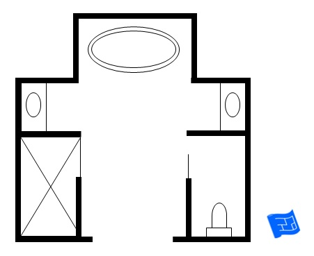 Attractive Master Bathroom Floor Plan 5 Star ... Nice Design