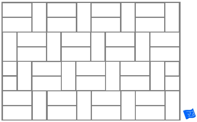 Subway tile brick tile pattern horizontal and vertical - tile offset