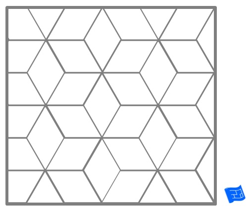 Diamond Geometric Tile Pattern