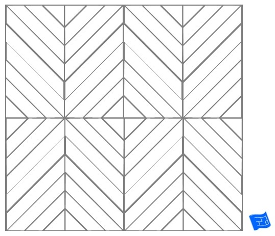 Rectangle tile pattern - cut herringbone
