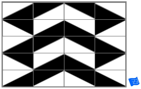 Triangle tile pattern - isoscelese chevron