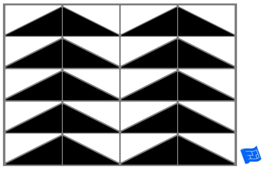 Triangle tile pattern - isoscelese arrow