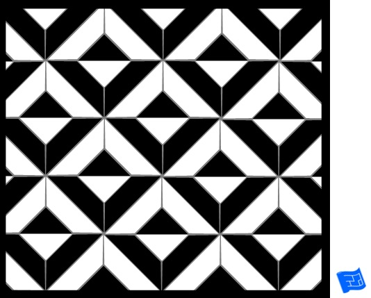 Square tile pattern - large cut square
