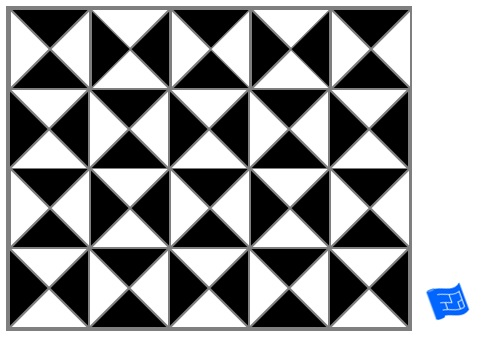 Triangle tile pattern - checker
