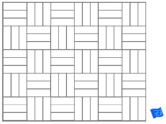 Triple block tile pattern - plain
