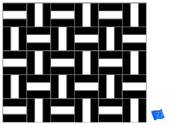 Triple block tile pattern - double stripe
