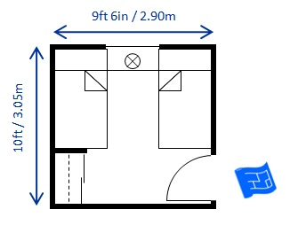 Bedroom size for Bathroom 8 x 8 layouts