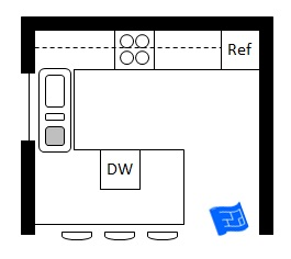 By  Kitchen Floor Plans