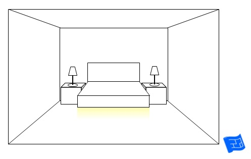 bedroom lighting ideas under bed glow
