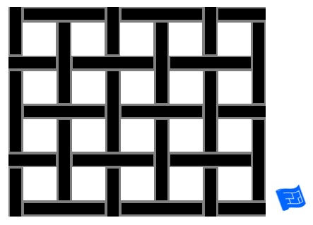 Square weave tile pattern -  thin - reversed