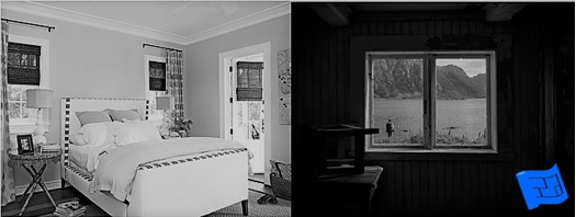 Two photos comparing one room with light on two sides and another room with light on only one side