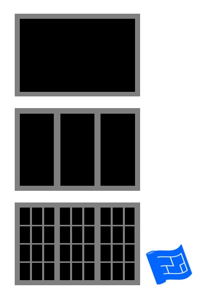 window placement horizontal opening with vertical emphasis