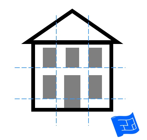 window placement preserving horizontal and vertical lines