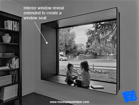 window reveal design extended reveal