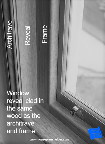 window reveal design with architrave